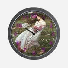 Wind Flowers Wall Clock