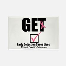 Breast Cancer Get Checked Rectangle Magnet