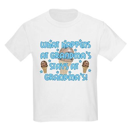 What happens at Grandma's Kids Light T-Shirt