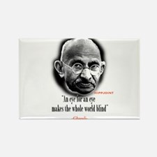 "Ghandi""an eye for an eye"" Rectangle Magnet"