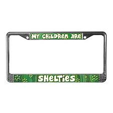 My Children Sheltie License Plate Frame