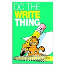 Garfield Writing Large Poster