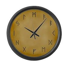 Viking Runes Large Wall Clock