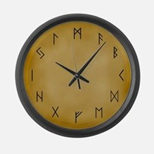 Viking Runes Large Wall Clock