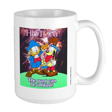 Garfield History Large Mug