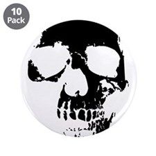 "Vintage Skull #1 Gifts 3.5"" Button (10 pack)"
