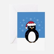 Angry Penguin Greeting Card