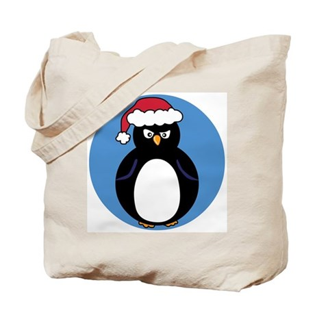 Angry Penguin Tote Bag