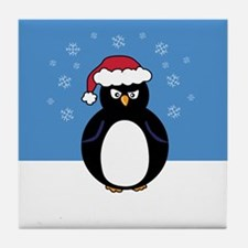 Angry Penguin Tile Coaster