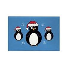 Angry Penguin Rectangle Magnet (10 pack)