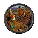 Damsel In Distress Large Wall Clock