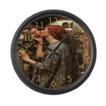 The Rose Garden Large Wall Clock