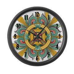 Medieval Beauty Large Wall Clock