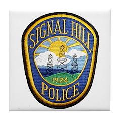 Signal Hill Police Tile Coaster