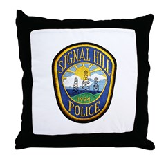 Signal Hill Police Throw Pillow