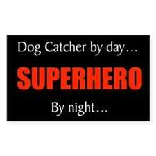 dog catcher Rectangle Decal