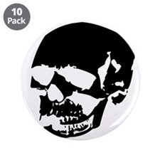 "Vintage Skull #2 3.5"" Button (10 pack)"