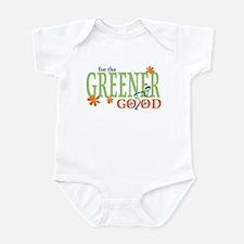 Green Bike Commuter Infant Bodysuit