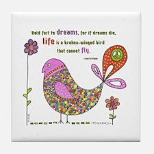 Langston Hughes Peacebird Tile Coaster