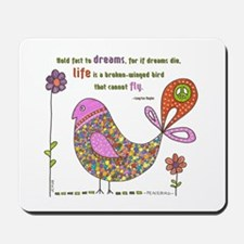 Langston Hughes Peacebird Mousepad