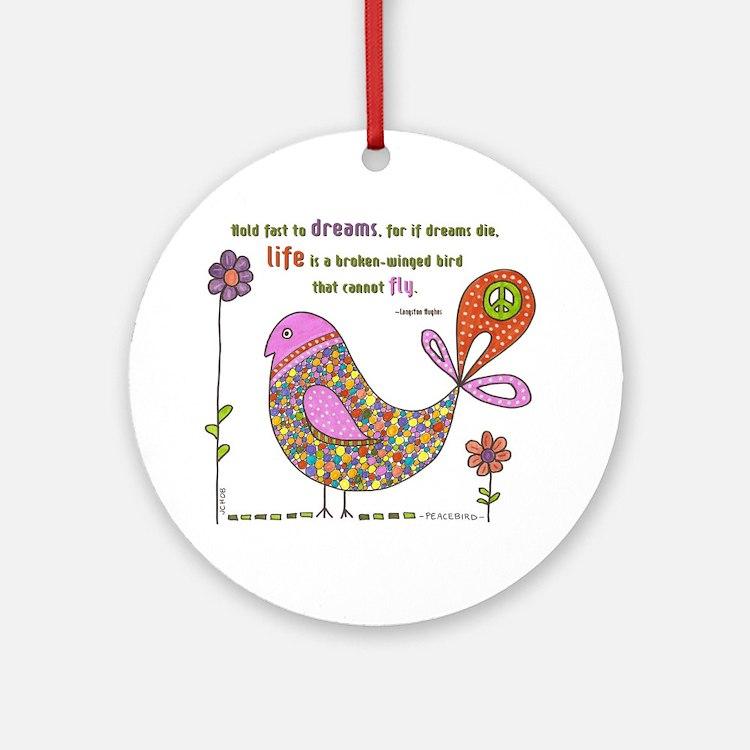 Langston Hughes Peacebird Ornament (Round)