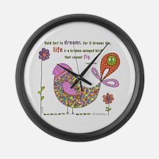 Langston Hughes Peacebird Large Wall Clock
