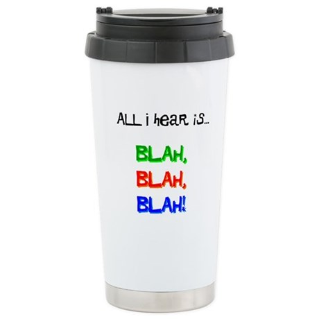Blah, Blah, Blah Stainless Steel Travel Mug