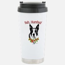 Boston Terrier Bah Humbug Stainless Steel Travel M
