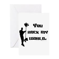 You Rock my World! Greeting Card