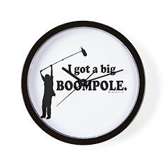 Big BOOMPOLE! Wall Clock
