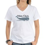 Power Moby-Dick Women's V-Neck T-Shirt