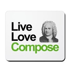 Bach's Live Love Compose Mousepad