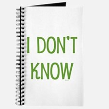 I Don't Know Journal