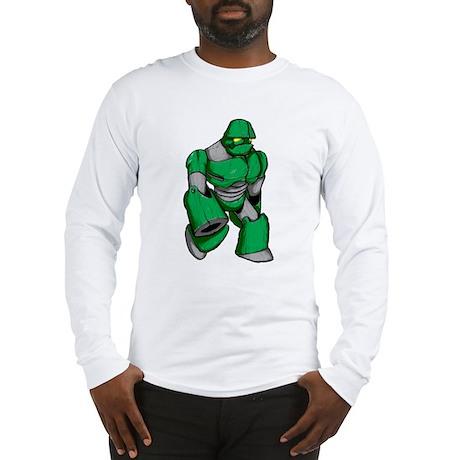 Robot Green Long Sleeve T-Shirt