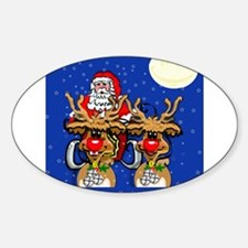 Reindeer Humor Oval Decal