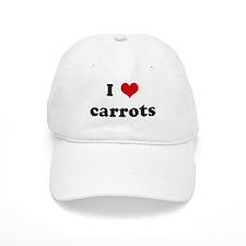 I Love carrots Baseball Cap