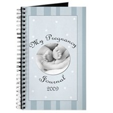 My 2009 Pregnancy Journal Blue Stripes Journal