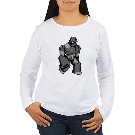 Robot Gray Women's Long Sleeve T-Shirt