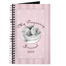 2009 My Pregnancy Journal Pink Stripes Journal