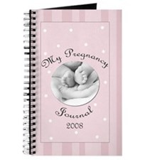 2008 My Pregnancy Journal Pink Stripes Journal