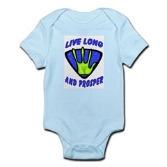Live Long And Prosper Infant Creeper
