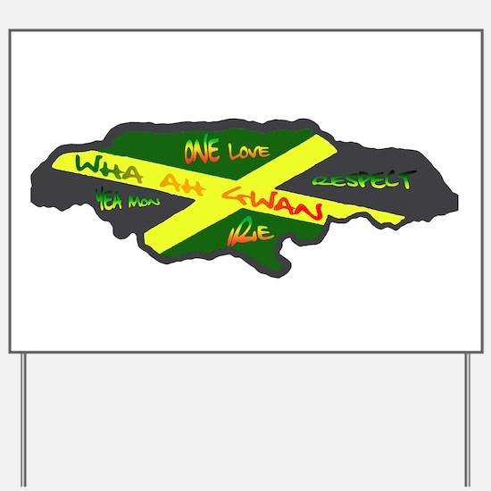 Jamaica Fag Yard Sign