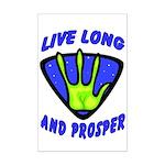 Live Long And Prosper Mini Poster Print