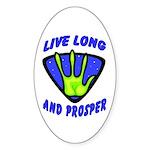 Live Long And Prosper Oval Sticker