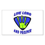 Live Long And Prosper Rectangle Sticker