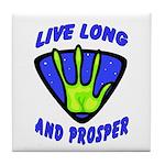 Live Long And Prosper Tile Coaster