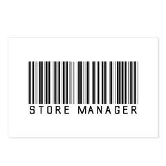 Store Manager Barcode Postcards (Package of 8)