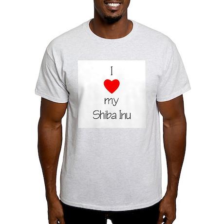 I Love My Shiba Inu Ash Grey T-Shirt