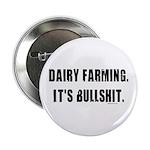 "Dairy Farming is Bullshit 2.25"" Button"
