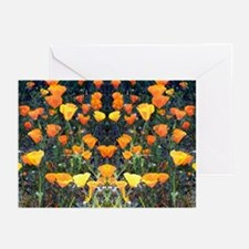 Mirrored Poppies II Greeting Cards (Pk of 10)